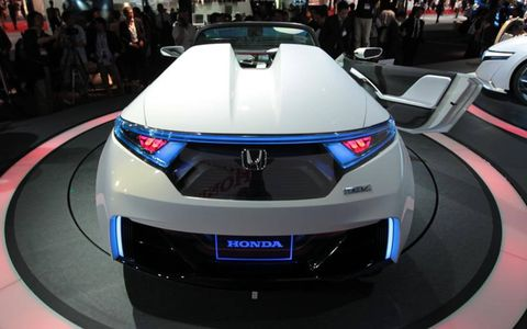 The Honda EV-STER, which debuted at the Tokyo Motor Show, has about 100 miles of driving range