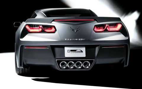 The redesigned 2014 Chevrolet Corvette Stingray does not use four round taillights, a design signature since 1962.