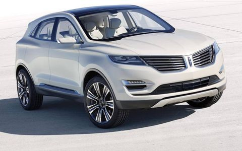 The Lincoln MKC concept wears the luxury brand's split-wing grille design.