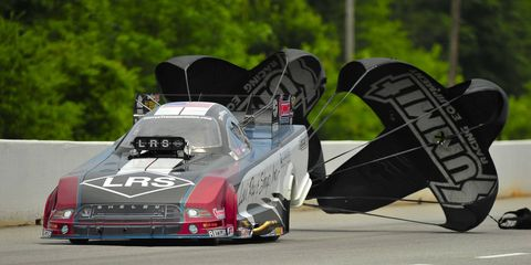 Tim Wilkerson piloted the fastest Funny Car at Atlanta on Sunday.