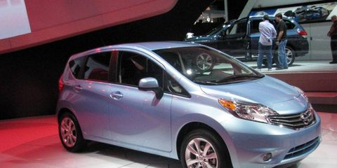 The 2014 Nissan Versa Note was unveiled at the Detroit auto show.