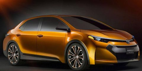The Furia concept is longer and wider than the current Toyota Corolla.