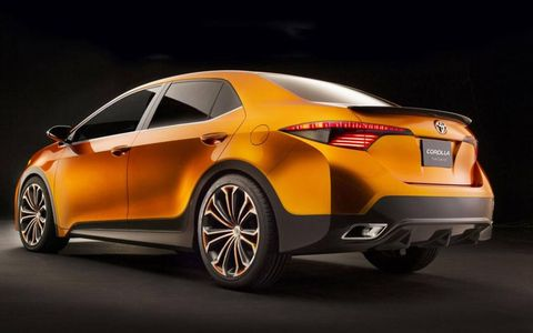 A rear view of the Toyota Corolla Furia concept.