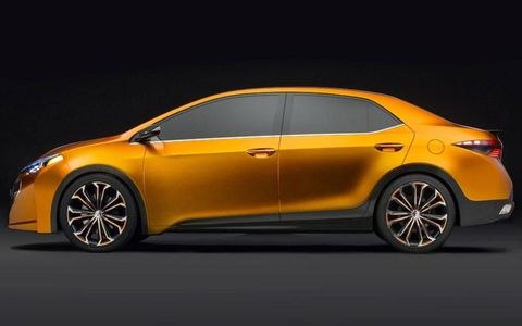 A side view of the Toyota Corolla Furia concept.