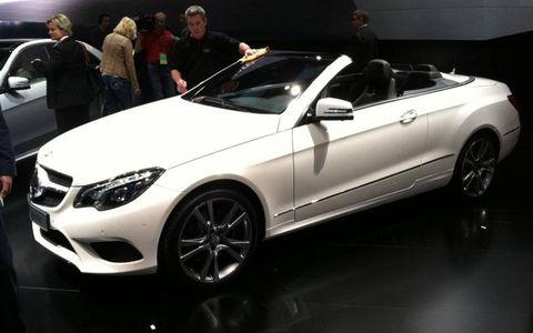 2014 Mercedes-Benz E-Class Cabriolet at the Detroit auto show