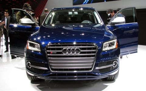 The front of the Audi SQ5 that debuted at the Detroit auto show.