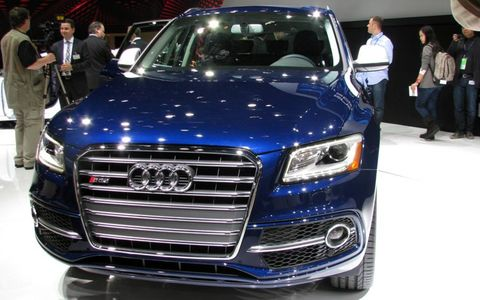 The front corner of the Audi SQ5 from the North American International Auto Show.