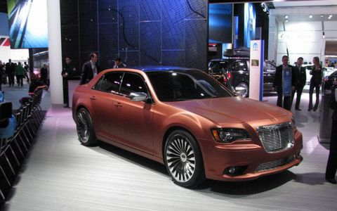 The Chrysler 300S Turbine is meant to evoke images of Chrysler's past concept cars.