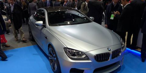 The 2014 BMW M6 Gran Coupe front corner.