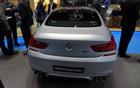 The 2014 BMW M6 Gran Coupe rear.