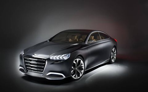 Hyundai previewed its next-generation Genesis with the HCD-14 Concept at the Detroit auto show.