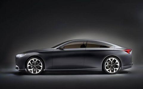 The Hyundai HCD-14 Genesis presages a dramatic new look for Hyundai's premium cars.