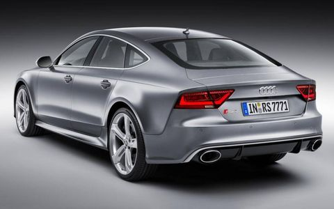 The rear view of the Audi RS7.