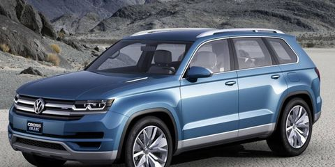 The Volkswagen CrossBlue concept has seating for six people.