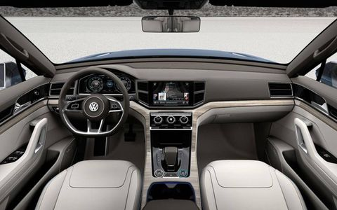 The interior of the Volkswagen CrossBlue concept.