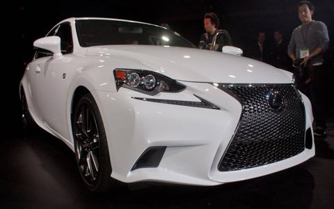 Lexus wants you to get used to that spindle grille.