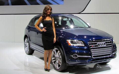 Another Audi booth professional at the North American International Auto Show.