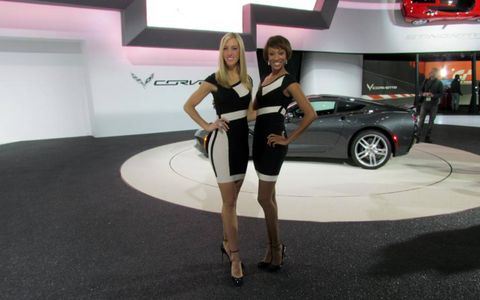 The Chevrolet Corvette booth professionals at NAIAS.
