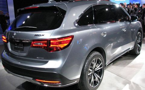 Acura revealed the 2014 MDX prototype on Tuesday at the Detroit auto show.