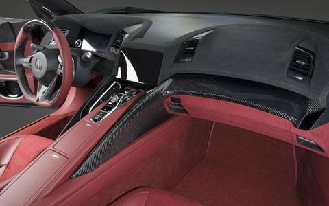 The dashboard of the Acura NSX concept.