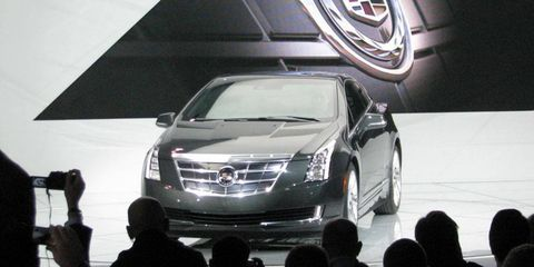 Cadillac introduced the Volt-based 2014 ELR at the Detroit auto show.