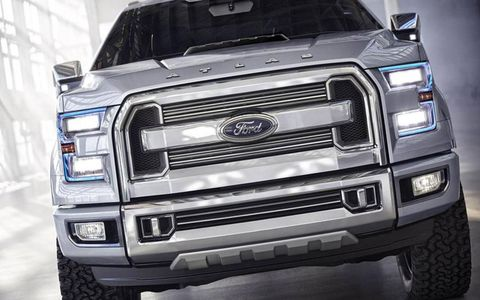 The twin-nostril grille of the Ford Atlas concept.