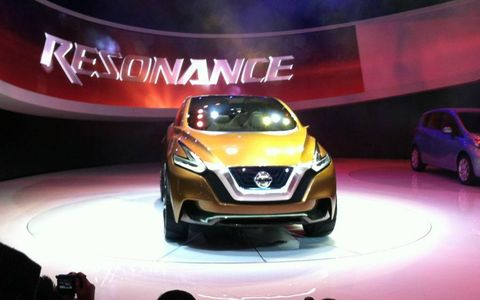 Nissan introduced the Resonance Concept SUV at NAIAS. It previews the upcoming Nissan Murano as well as the company's future design language.