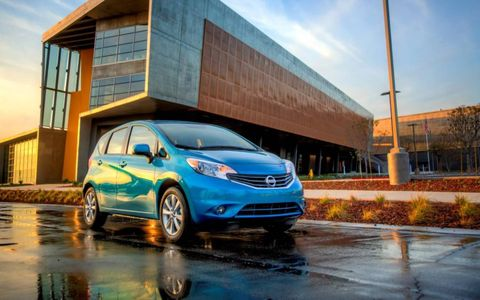 The 2014 Nissan Versa Note runs with four-cylinder power.