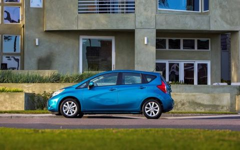 A side view of the 2014 Nissan Versa Note.