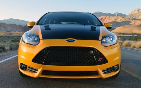 The Shelby Focus ST at the Detroit auto show broke cover at the Detroit auto show.