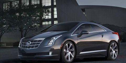 A front view of the 2014 Cadillac ELR.
