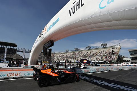 Sights from the action at the 2019 Race of Champions at Mexico City's Foro Sol in Mexico, Sunday Jan. 20, 2019.