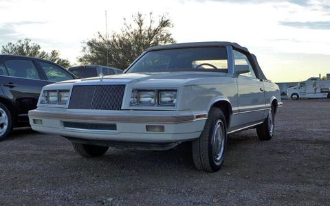 """Sure, you can show up at Barrett-Jackson in anything, but nothing says """"I've arrived"""" like a 1982 Chrysler LeBaron convertible."""