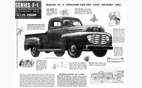 Marketing material from the 1948 Ford F-series.