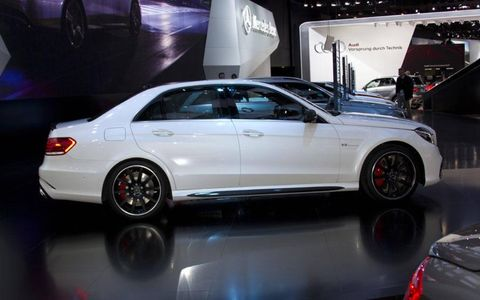 Side view of the 2014 Mercedes-Benz E63 AMG.