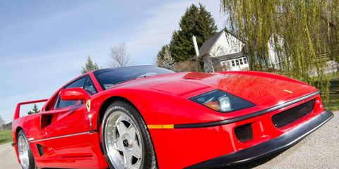 This 1991 Ferrari F40 was originally purchased by Lee Iacocca