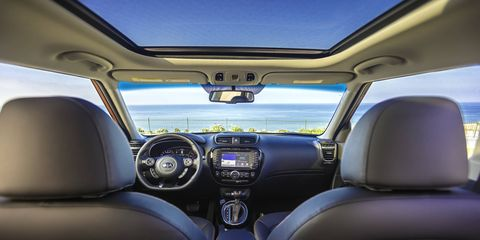 The 2017 Kia Soul ! has a 1.6-liter turbocharged engine making 201 hp and 195 lb-ft of torque.