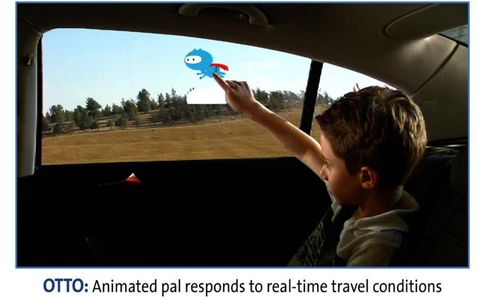 In Otto, kids work with the moving scenery as the car drives along