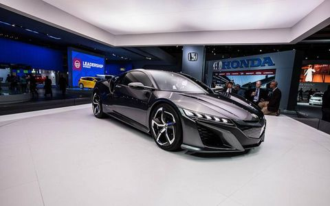 The new NSX concept maintains its low and wide stance.