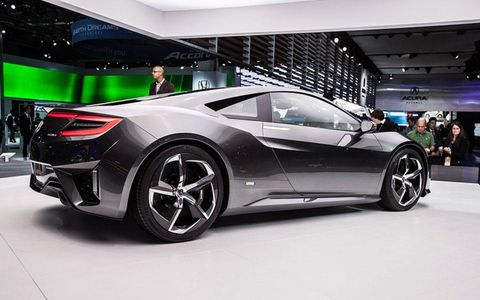 The Acura NSX is based on the expected underpinnings of the vehicle Acura will bring to market.