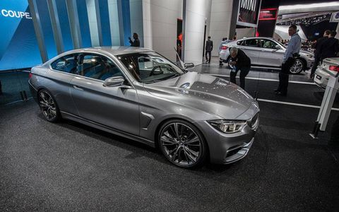 BMW presented the new 4-series coupe as a design study rather than a retail-ready vehicle.