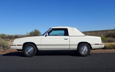 With a new coat of wax, the LeBaron almost -- almost -- looks good as new. From a distance, at least.