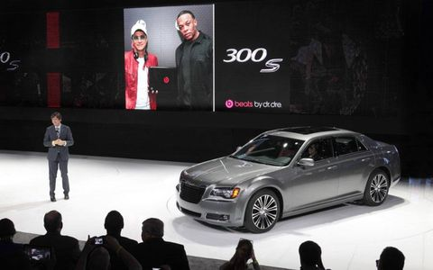 The Chrysler 300 S at the New York auto show.