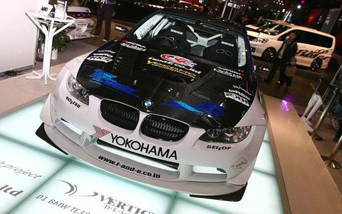 T&E D1-Grand Prix BMW M3Body kit specialists T&E unveiled their 2009 D1 drift car, which replaces last year's Lexus SC. Under the hood of the T&E BMW M3 is a 650-hp Toyota Supra engine more than capable of shredding a fresh set of Yokohama tires.