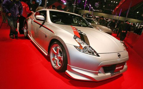 Nismo 370Z S-tune Yours for $45,820, the Nismo 370Z S-tune sports a full Nismo body kit comprised of front and rear under-spoilers for the bumpers, chunkier side skirts and an oversized rear wing. The engine remains stock but the handling and chassis has been revised thanks to stiffer shocks and springs, special body braces and a set of lightweight Nismo wheels by Rays Engineering.