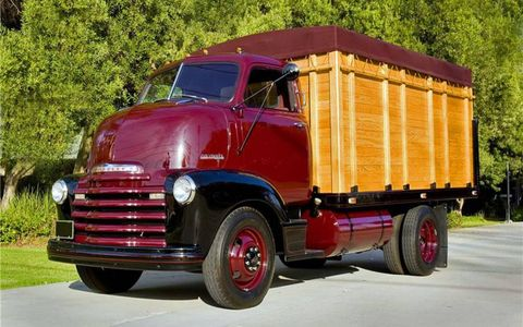 The 1948 Chevrolet COE truck sold for $97,900.