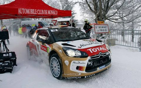 Dani Sordo finished third in the WRC opener at Monte Carlo to give Citroen two cars on the podium.