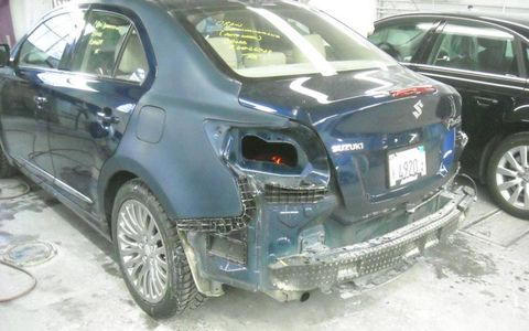 AutoWeek's Suzuki getting fixed at AutoMetric in Royal Oak, Michigan