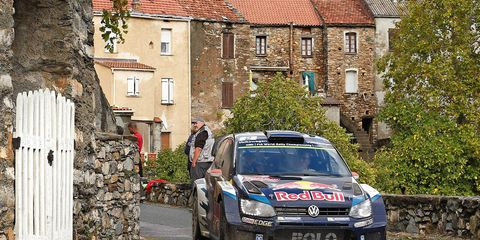 Jari-Matti Latvala gave Volkswagen the win in World Rally Championship action in France.