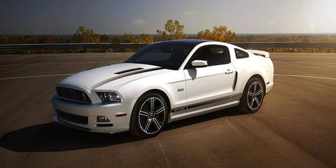 The Ford Mustang likely will get an EcoBoost engine in the near future, an executive said. The 2013 Mustang GT California Special is shown.